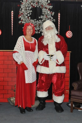 Santa and Mrs. Claus flew in to help the 140th Wing kick off the holiday season during the December drill weekend holiday party.