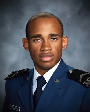 Cadet 2nd Class Stephen Williams was assigned to Cadet Squadron 20. He was a manager for the Air Force Falcons football team and majored in systems engineering management. (U.S. Air Force photo)