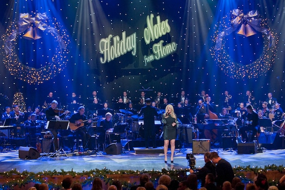 Country superstars Lee Ann Womack and Little Big Town at the Grand Ole Opry perform with the Air Force Strings and the Band of the Air Force Reserve.