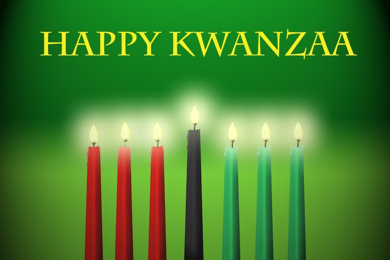 GRISSOM AIR RESERVE BASE, Ind. -- The men and women of the 434th Air Refueling Wing at Grissom wish everyone a happy Kwanzaa. Kwanzaa is a seven-day holiday, which celebrates family and Africa-American heritage. It is celebrated by many from Dec. 26-Jan. 1. (U.S. Air Force graphic/Senior Airman Damon Kasberg)