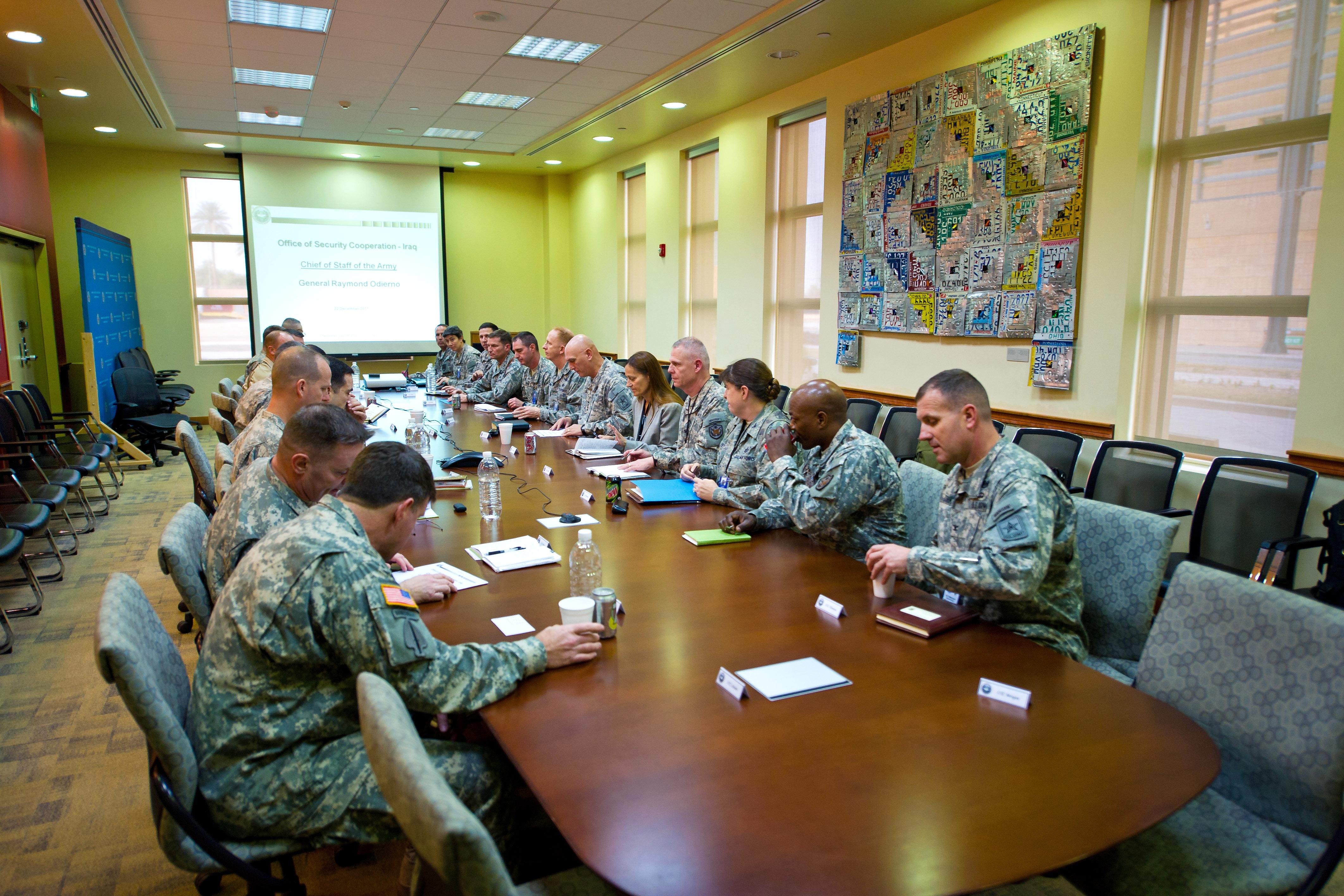 U S  Army Chief of Staff Gen  Raymond T  Odierno, and U S
