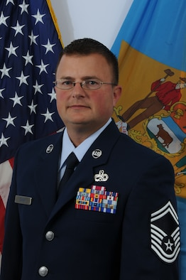 Senior Master Sergeant Todd Dugar, Delaware Air National Guard Outstanding Senior Noncommissioned Officer of the Year for FY 2010. Sergeant Dugar is an aerospace propulsion superintendent, 166th Maintenance Squadron, part of the 166th Airlift Wing in New Castle, Del. He is a resident of Middletown, Del. (U.S. Air Force photo/Tech. Sgt. Tracy Childs)