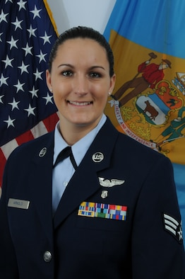Senior Airman Victoria Arnold, Delaware Air National Guard Outstanding Airman of the Year for FY 2010. Airman Arnold is an aerospace medical technician in the 142nd Aeromedical Evacuation Squadron, part of the 166th Airlift Wing in New Castle, Del. She is a resident of Wilmington, Del. (U.S. Air Force photo/Tech. Sgt. Tracy Childs)