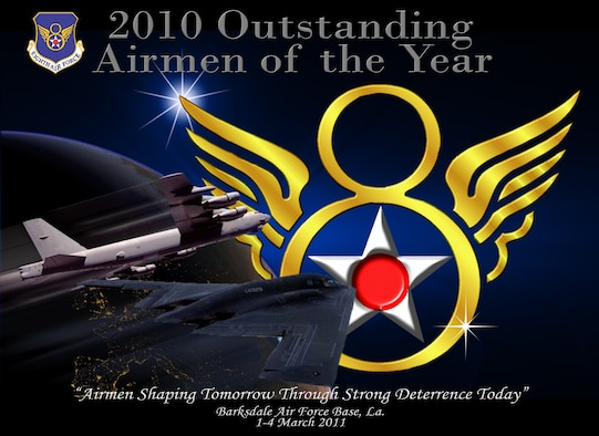 The 28 finalists who represent the best of the best in the 'Mighty Eighth' will be recognize during the Eighth Air Force's Outstanding Airmen of the Year banquet held at the Eldorado Resort and Casino in Shreveport, La., March 3 at 6 p.m. (U.S. Air Force graphic by Jim Drudge and Staff Sgt. Brian Stives)