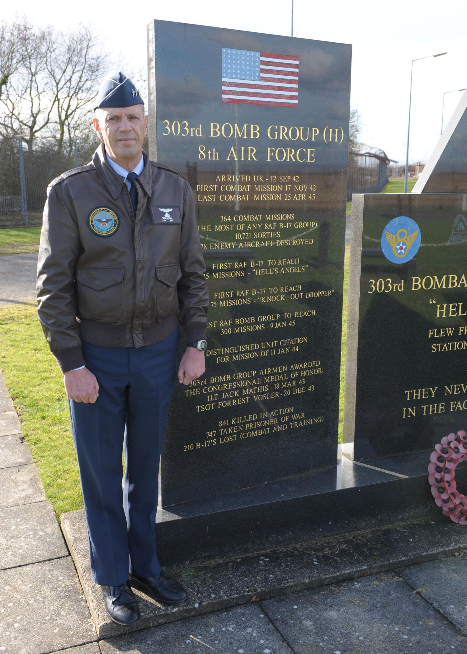 Former 8th AF Vice Commander Honors WWII 303rd Bomb Group