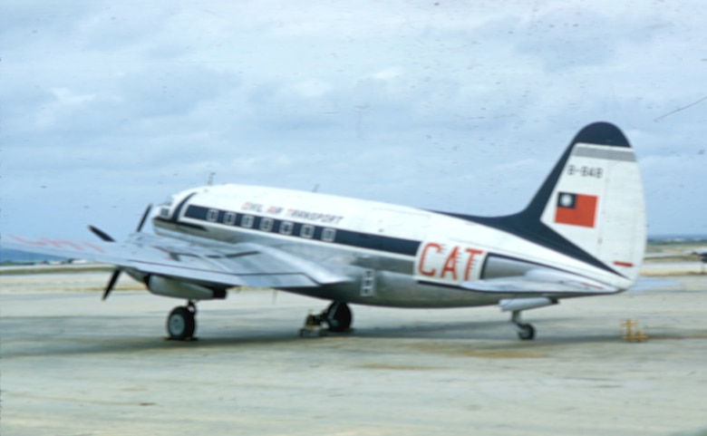 CIA-affiliated Civil Air Transport (CAT), forerunner of Air America, flew support missions for the French at Dien Bien Phu using C-119s, and elsewhere in Indochina with other aircraft like this C-46. (U.S. Air Force photo)