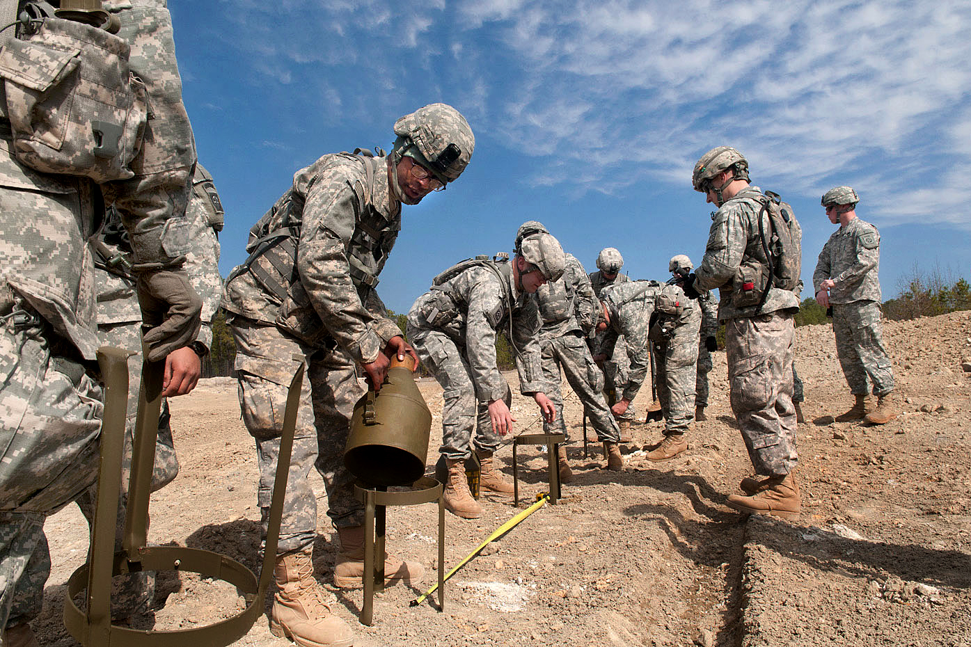 army combat engineers prepare explosive charges for detonation on fort bragg nc feb