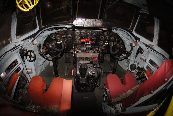 DAYTON, Ohio -- Lockheed EC-121D cockpit at the National Museum of the United States Air Force. (U.S. Air Force photo)