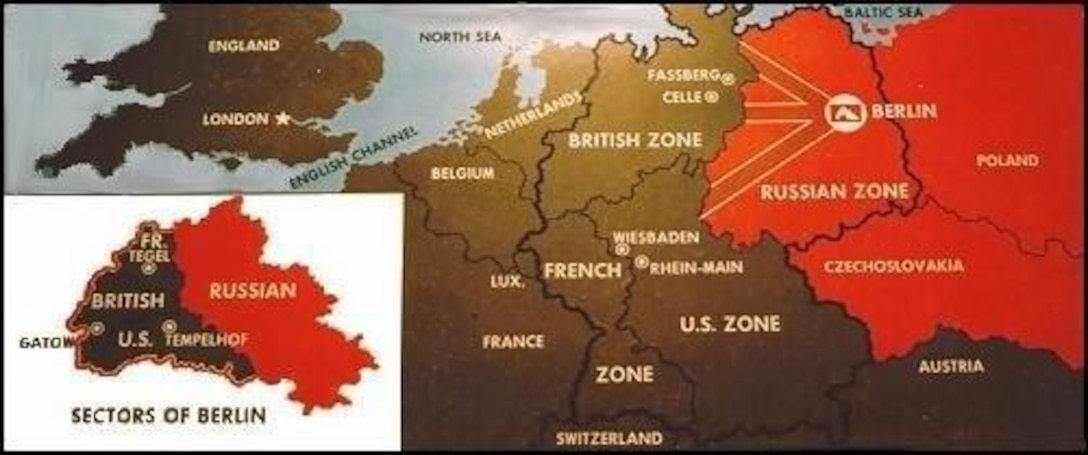 Map Of Germany Occupation Zones.Map Of Germany And Occupation Zones After Wwii And During The Berlin
