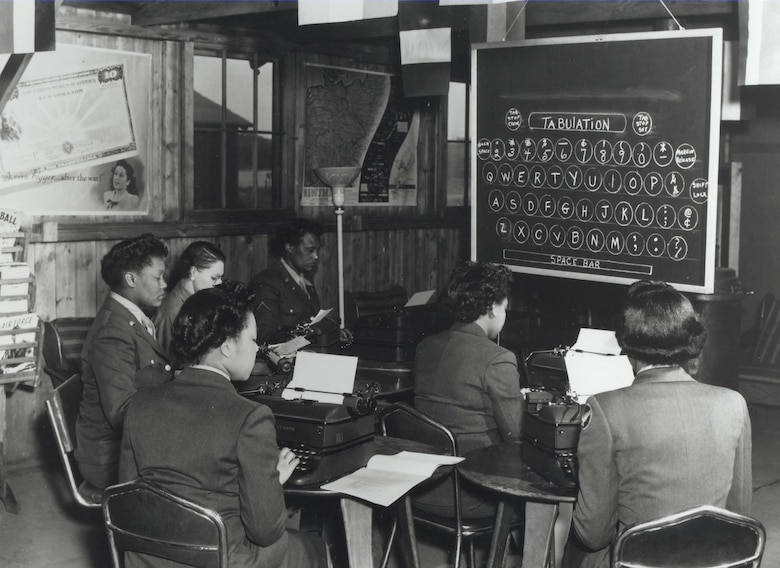 WACs learning to type, 1945.