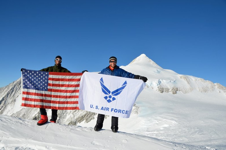 The U.S. Air Force Seven Summits team reached Mount Vinson's 16,077 foot summit Dec. 9, 2010. The team has conquered five of the seven continents' highest peaks. (Courtesy photo)