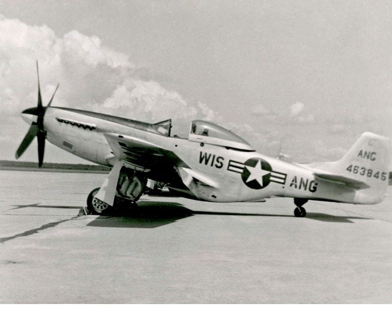 "North American P-51D ""Mustang"" fighter. Flown from 1947-49, and from late 1952 to mid-1953."