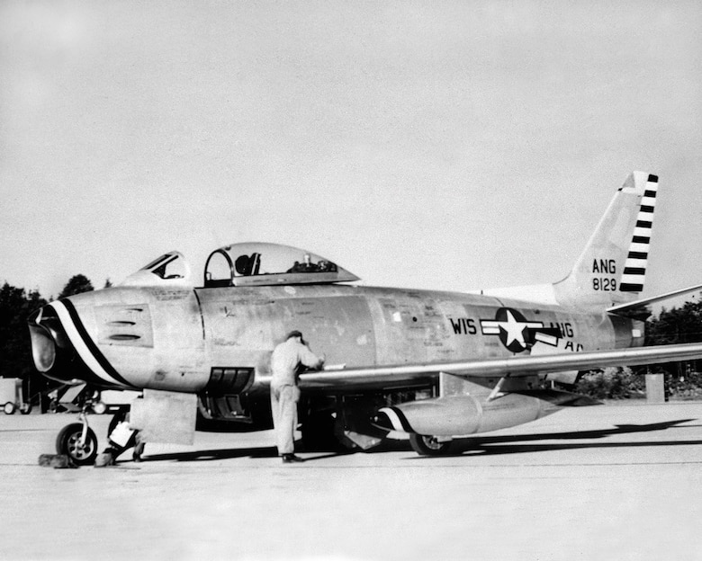 F-86 Sabre Jets were flown by the 126th fighter wing from 1953-1954.