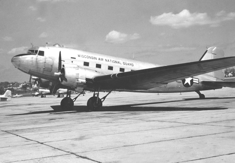 "Mc Donnell-Douglas C-47 "" Skytrain"" was used by the 126th from 1947-1960 as a cargo hauler and troop transport."