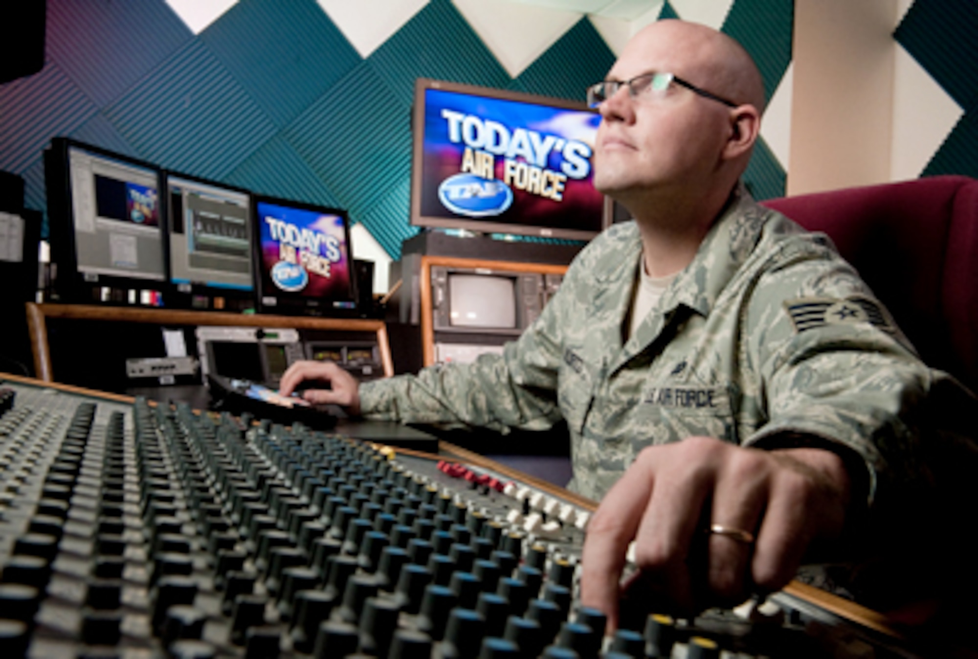 """""""Today's Air Force"""" is a long-format, weekly news show featuring in-depth stories about the Air Force's people, programs, technology, exercises, operations and more. (U.S. Air Force photo/Lance Cheung)"""