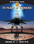 '70 Years of Thunder' poster