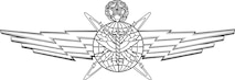 Cyberspace Support Badge-Master (Shaded). U.S. Air Force graphic by Corey Parrish of the Defense Media Activity-San Antonio. Image is 8x5.7 inches @ 72 ppi.