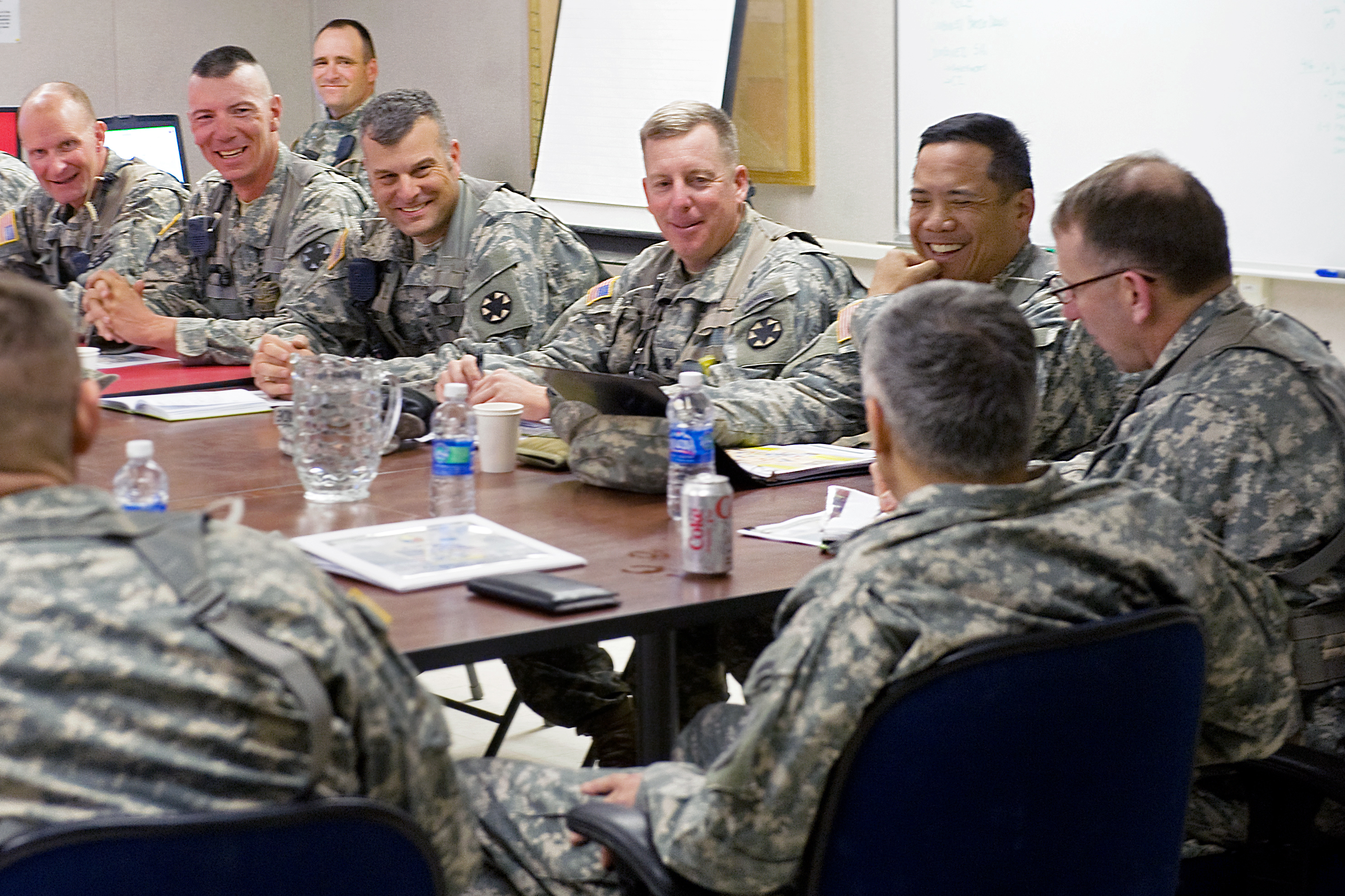 U S  Army Chief of Staff Gen  George W  Casey Jr  meets with