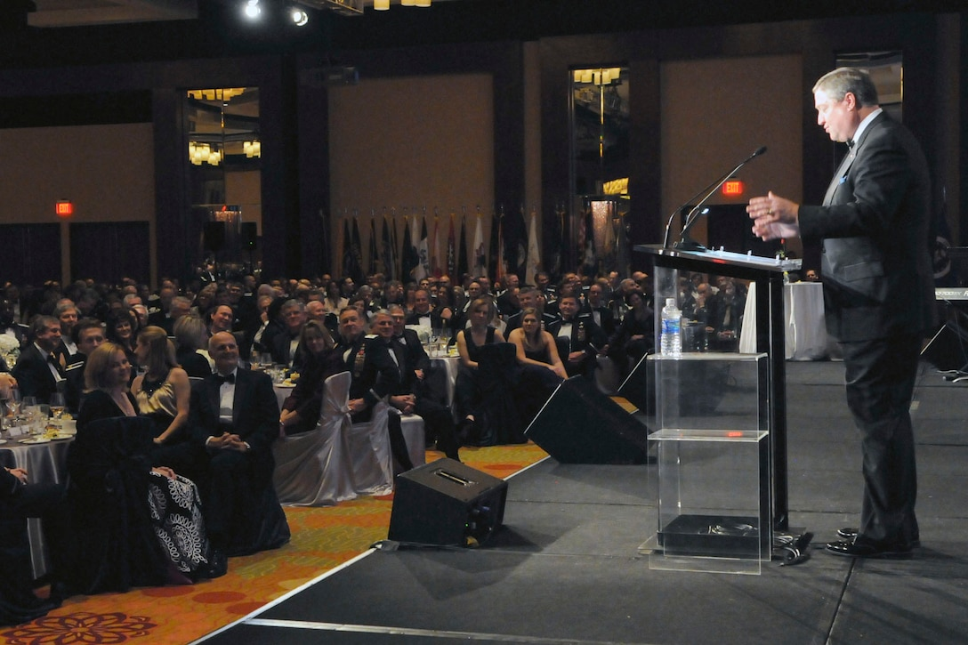 More than 1,000 Airmen, civilians, civic leaders, sister servicemembers and foreign officers attended the Ball. Photo by Don Lindsey.