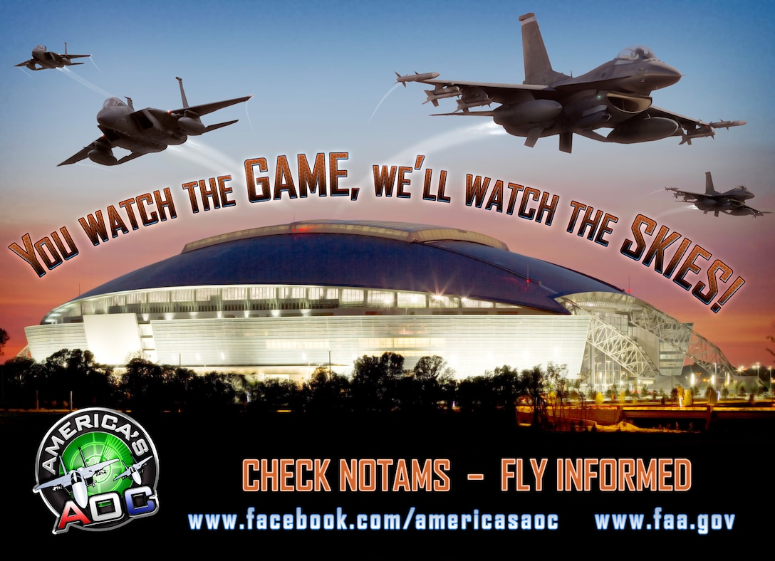 Super Bowl XLV Notice to Airman (Graphic illustration by Isaac Gibson)