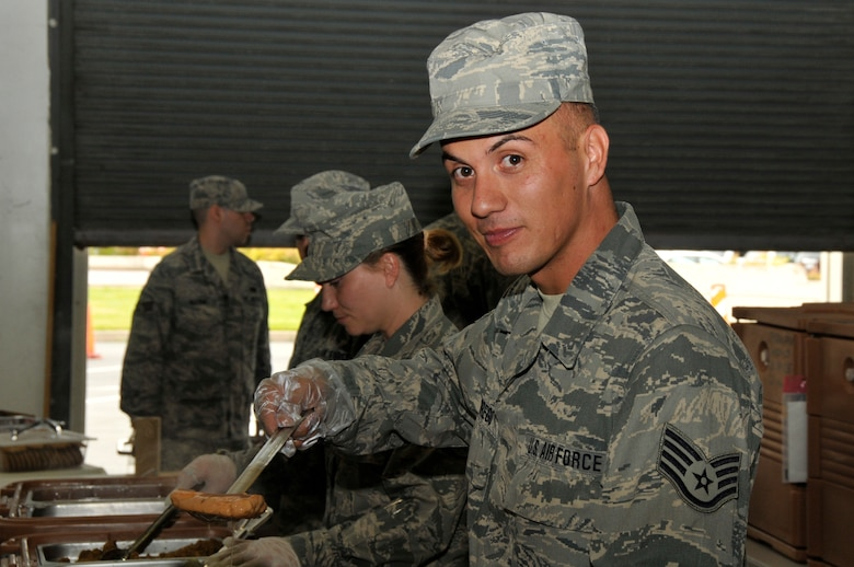 Staff Sgt. Fernando Borrego, food service manager assigned to the 129th Services Flight, is featured as the July 2011 Portrait of a Professional. (California Air National Guard photo by Staff Sgt. Kim Ramirez)