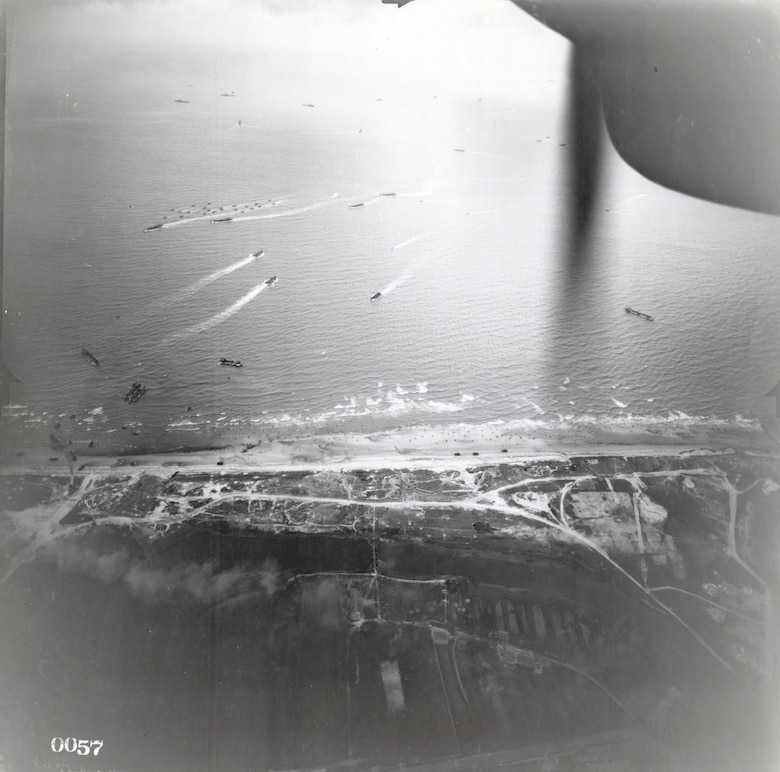 Part of the invasion coast at Normandy. (U.S. Air Force photo)