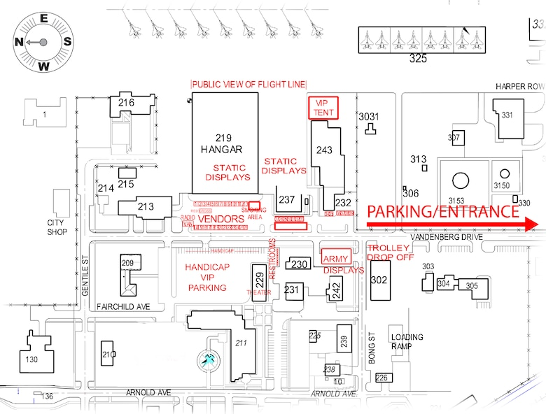 Here is the event map for the Open House July 23, 2011 at Kingsley Field, Klamath Falls, Ore.