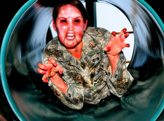 Are you prepared for a zombie apocalypse? The steps to take before a zombie apocalypse are very similar to being ready for many other emergency situations. (U.S. Air Force photo illustration/Airman 1st Class Daniel Phelps) (Released)
