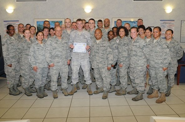Staff Sgt. Marcus Poulos, 36th Medical Operations Squadron bioenviromental technician, was awarded Team Andersen's Best here, July 20. (U.S. Air Force photo/Senior Airman Carlin Leslie)