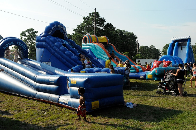 Joint Base Charleston-Weapons Station base housing residents were able to beat the summer heat as they enjoyed the Water Park Wonderland, an event hosted by Balfour Beatty, July 22.