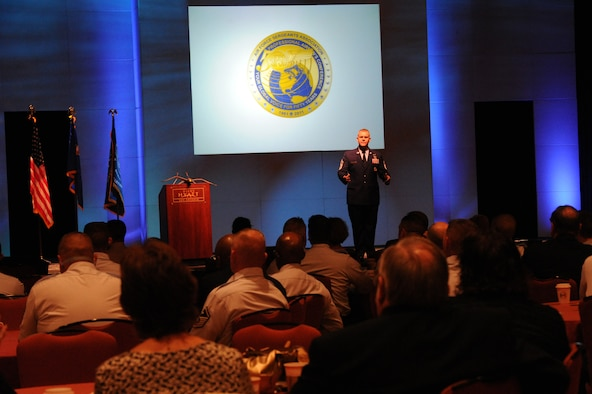 Chief Master Sgt. of the Air Force James A. Roy speaks July 25, 2011, at the Air Force Sergeants Association's Professional Airmen's Conference in San Antonio. The event marked the 50th anniversary of the association. (U.S. Air Force photo/Staff Sgt. Vernon Young Jr.)