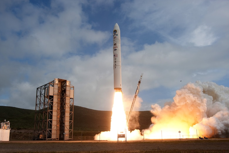 VANDENBERG AIR FORCE BASE, Calif. -- A Minotaur IV rocket launches from Space Launch Complex-8 here Thursday, April 22, 2010. A similar rocket is scheduled to launch from SLC-8 Wednesday, Aug. 10, 2011.  (Courtesy Photo)