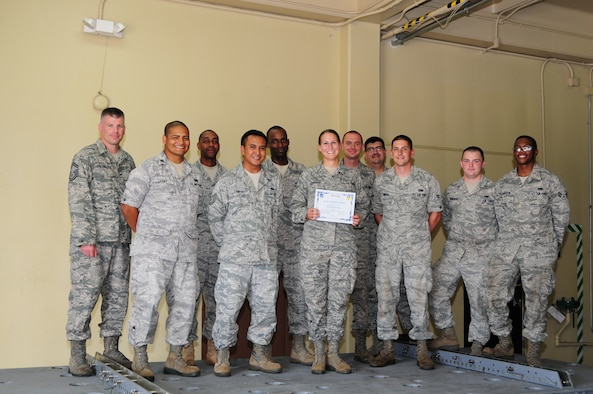 Airman 1st Class Allison Gedridge, 36th Munitions Squadron equipment maintenance crew member, was awarded Andersen's Best here May 19.