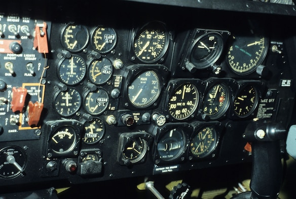 DAYTON, Ohio - Sikorsky UH-19B cockpit at the National Museum of the U.S. Air Force. (U.S. Air Force photo)