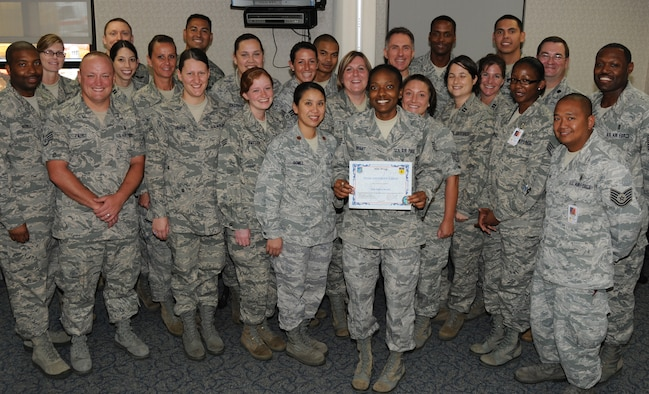 Staff Sgt. Patrice Bryant, 36th Medical Operations Squadron Pediatric Clinic noncommissioned officer in charge, was awarded Andersen's Best here May 19.