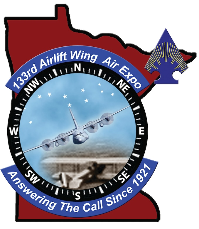 Designed by the 133rd Airlift Wing Public Affairs Office this logo was made to advertise the calibration of our wings 90th anniversary.