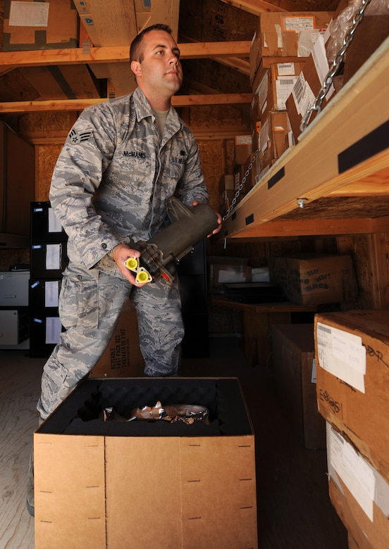 MOUNTAIN HOME AIR FORCE BASE, Idaho -- Senior Airman Landon McManis serves as the 366th Maintenance Operations Squadron supply liaison and was selected as the squadron's Warrior of the Week. (U.S. Air Force photo by Senior Airman Debbie Lockhart)