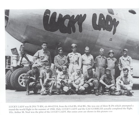 In July/August 1948, this B29A circled the globe in fourteen days,