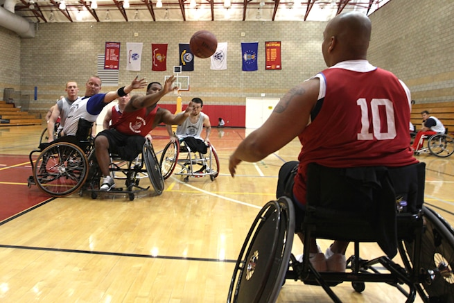 u s department of > photos > photo essays > essay view injured marines compete in the wheelchair basketball portion of the 2011 marine corps trials at camp
