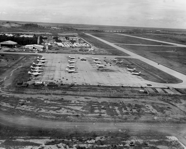 A Viet Cong mortar attack on Bien Hoa Air Base in November 1964 marked a major escalation in hostilities. Four Americans died and 72 were wounded. (U.S. Air Force photo).