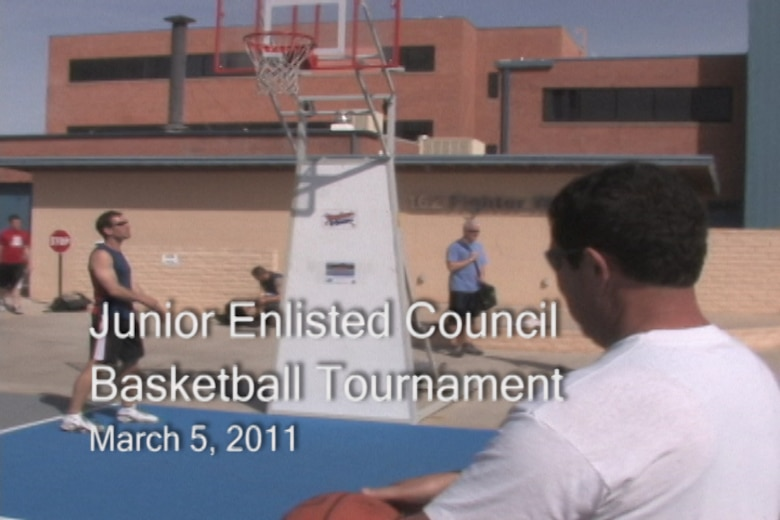 The 162nd Fighter Wing's Junior Enlisted Council organized a basketball tournament on base, March 5. Watch the video news clip here.