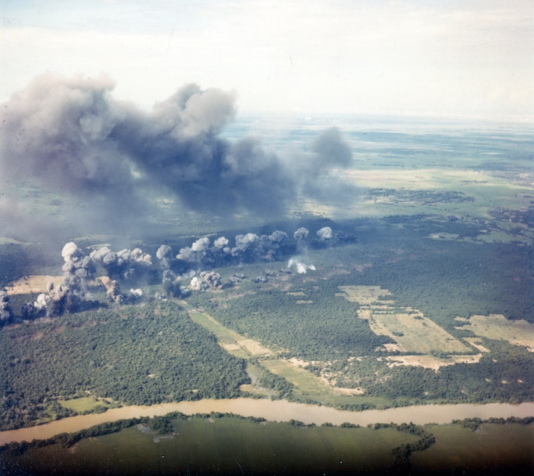 B-52 attacks caused tremendous and terrifying destruction. (U.S. Air Force photo).