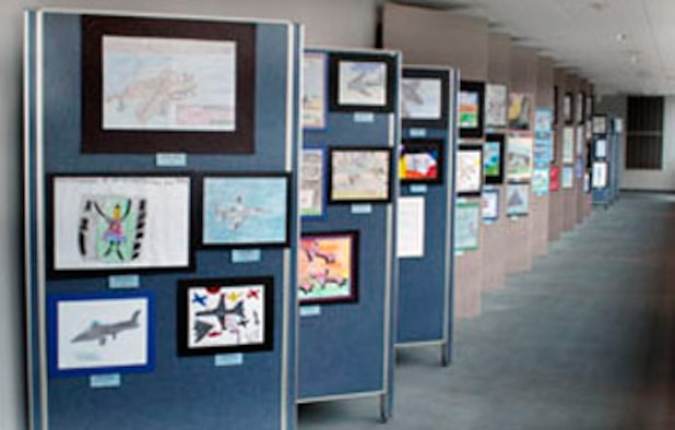 DAYTON, Ohio -- The Student Aviation Art Competition and Exhibition is held each spring at the National Museum of the U.S. Air Force. (U.S. Air Force photo)