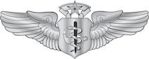 Flight Nurse Badge-Master (Gradient).  U.S. Air Force graphic by Corey Parrish of the Defense Media Activity-San Antonio. Image is 8x3 inches @ 72 ppi.