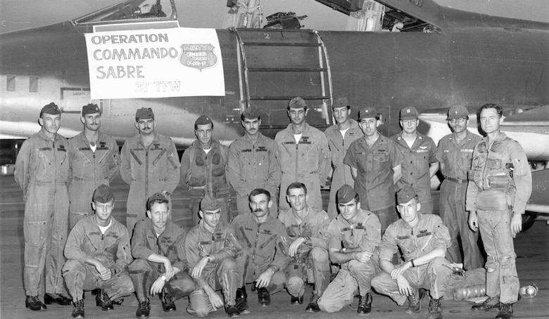 Misty FACs in 1969. Standing second from the left is Maj. Tony McPeak, who became the USAF Chief of Staff from 1990-1994. Standing third from the left is Capt. Ron Fogleman, who became USAF Chief of Staff from 1994-1997. Kneeling second from the right is 1st Lt. Charles Lacy Veach, who became an astronaut and logged more than 400 hours in space. (U.S. Air Force photo)
