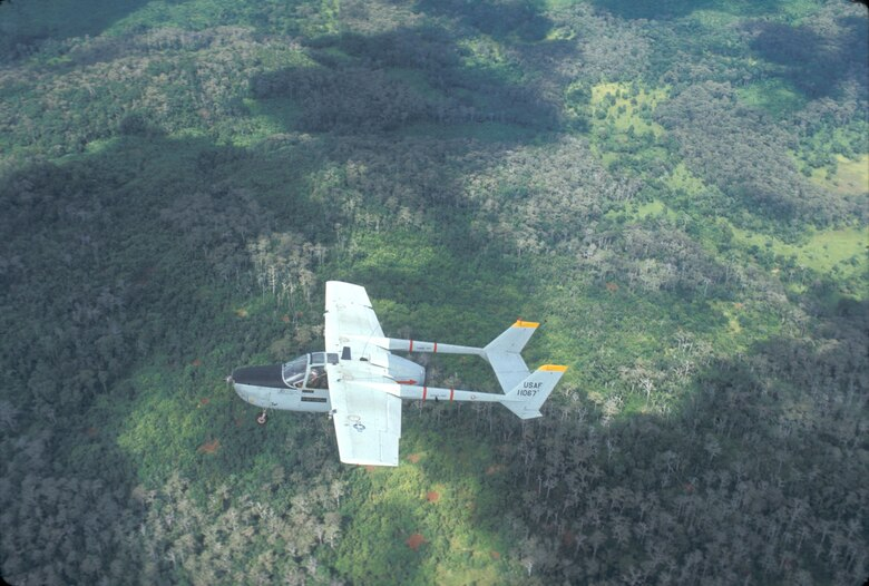 U.S. Air Force forward air controller over Laos, 1970. (U.S. Air Force photo).