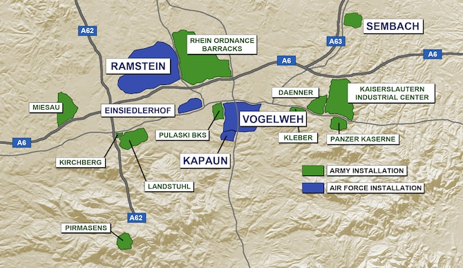 What Is The Kmc Ramstein Air Base Display - Map-of-us-army-bases-in-germany
