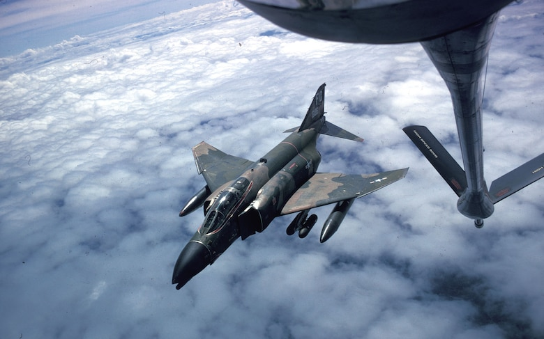 Aerial refueling permitted tactical aircraft to operate in the northern part of North Vietnam. (U.S. Air Force photo)