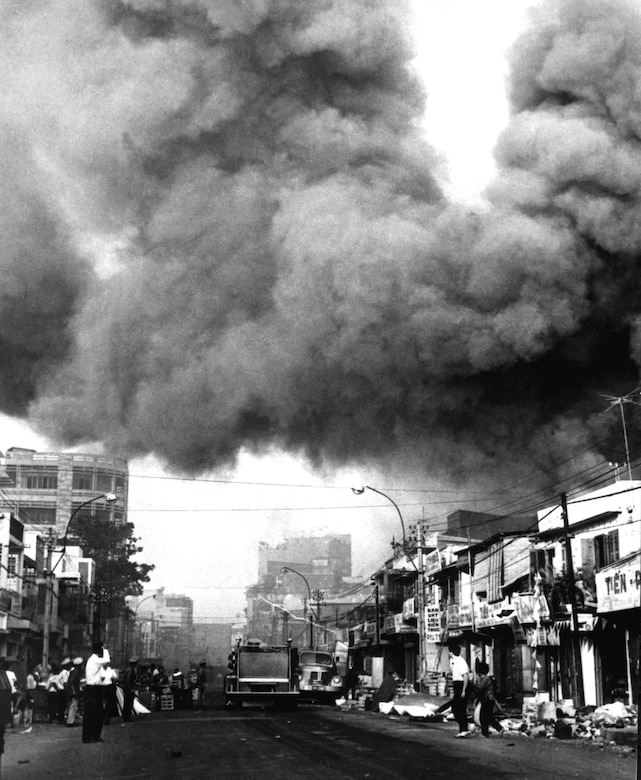 Saigon was a communist target during Tet. (U.S. Air Force photo)