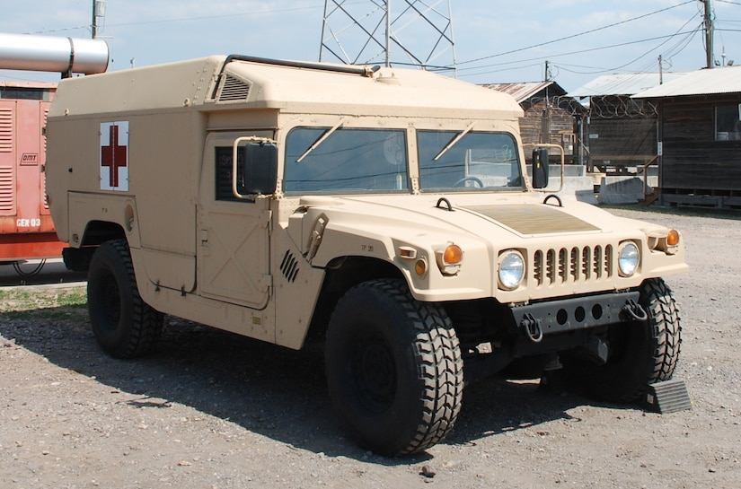 SOTO CANO AIR BASE, Honduras - Joint Task Force-Bravo recieved shipment of a new M996 Tactical Ambulance, here, Mar. 24.  The ambulance is part of the JTF-Bravo Tactical Wheeled Vehicle Life Cycle Management Plan, an on-going equipment modernization plan to enchance mission capabilities.  JTF-Bravo is U.S. Southern Command's regional asset providing the first US military response  throughout the Central and South America.  (U.S. Air Force photo/Capt. David McCain)